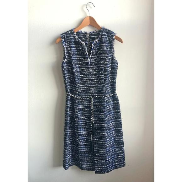 Karl Lagerfeld Dresses & Skirts - Karl Lagerfeld Paris Fray Detail Tweed Dress
